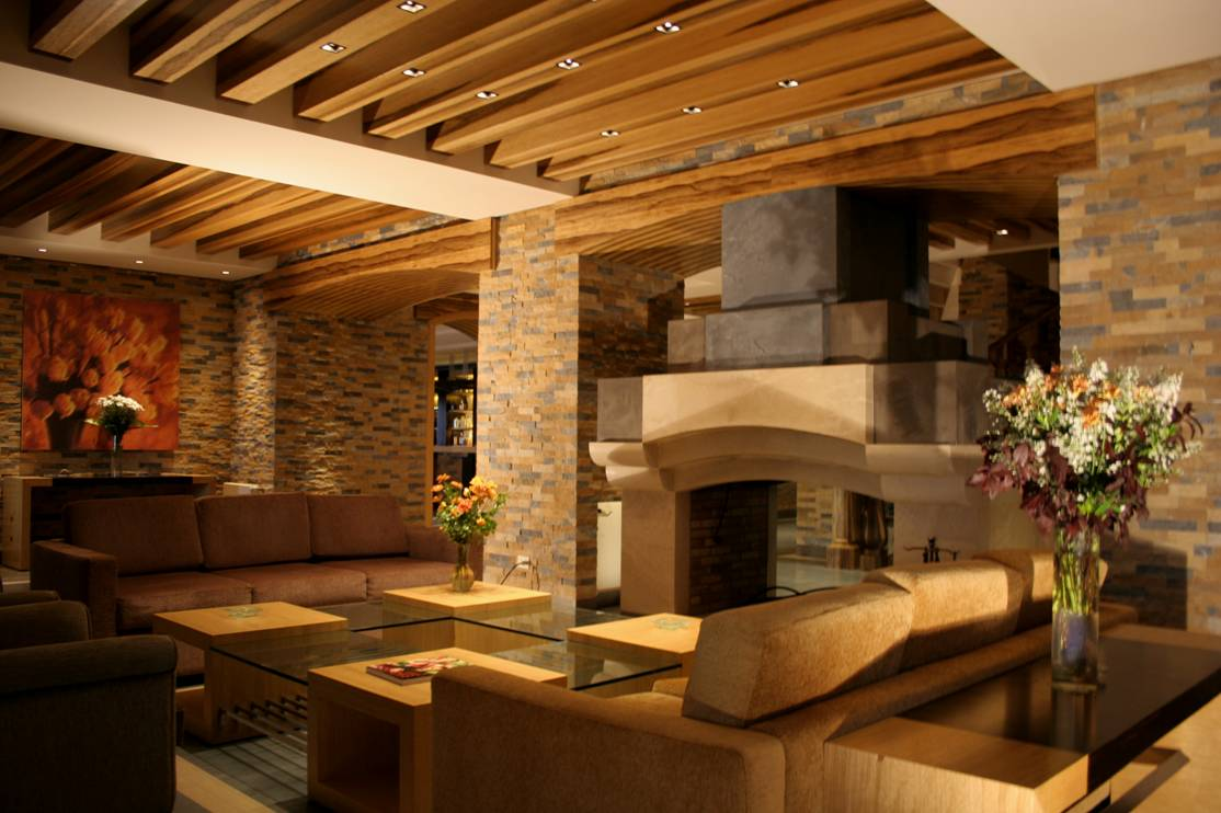 Fireplace lounge of Terre Brune Hotel, Lebanon